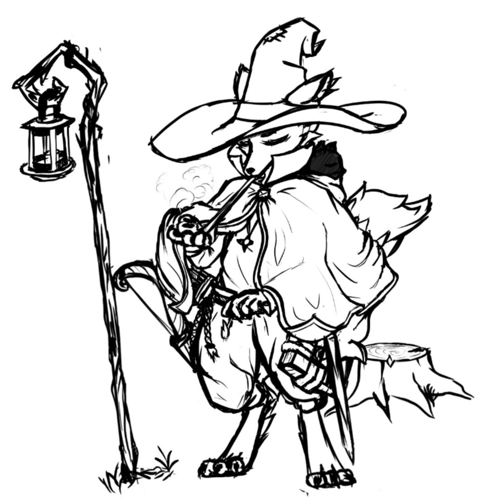 Most recent image: Wizard fox thing