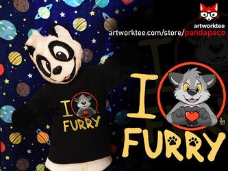 I <3 Furry (T-shirt design)