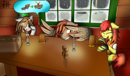 Winterlight, Flame and Tai at a Warm place [com]