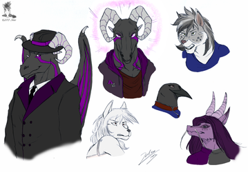 the whole cast is here! (now in color)