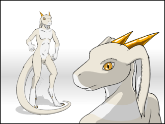 Sky the anthro dragon, reference 1
