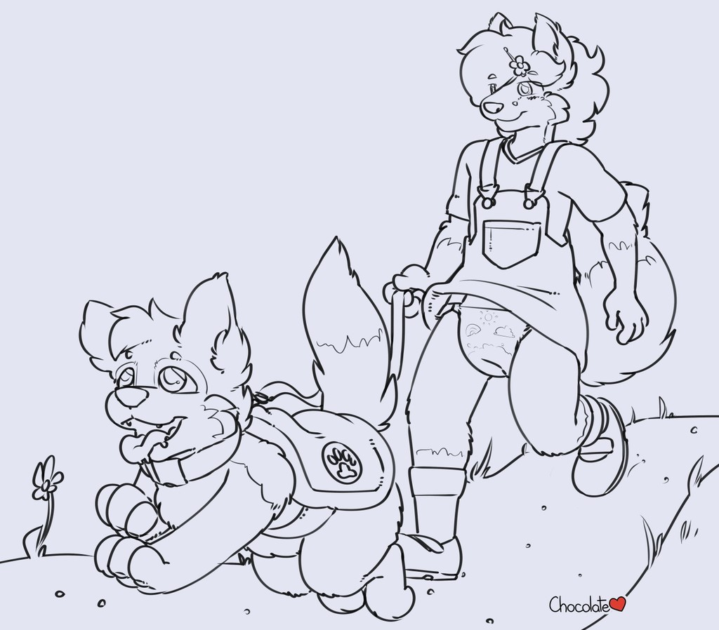Wolfie - Walking the Pup