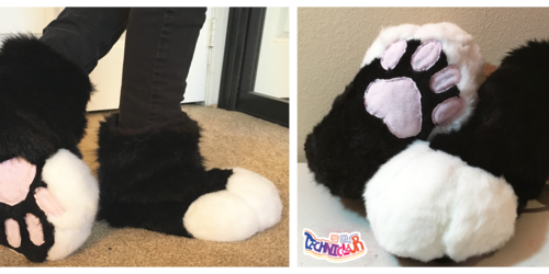 Black and White Fursuit Sockpaws