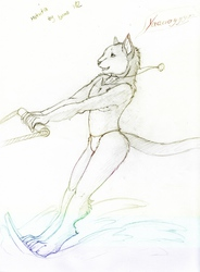 .: Water is fun!!! (Even for a cat) :. - Makuta