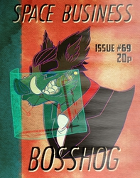 SPACE BUSINESS!! Conbadge by Beccles~!
