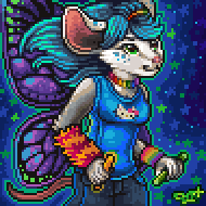 Pixel Portrait - Raver Lunati