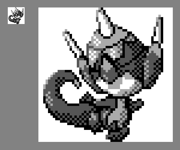 Game Boy Styled Poipole Sprite