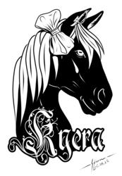Kyera - Acrylic badge design