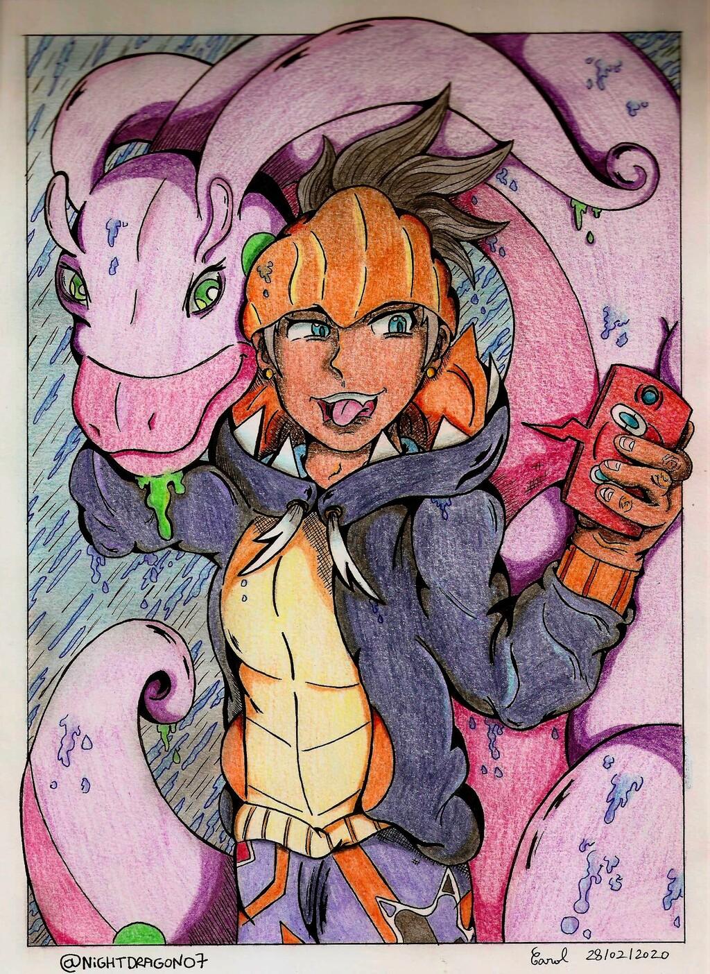 [Pokemon fanart] A selfie with Goodra