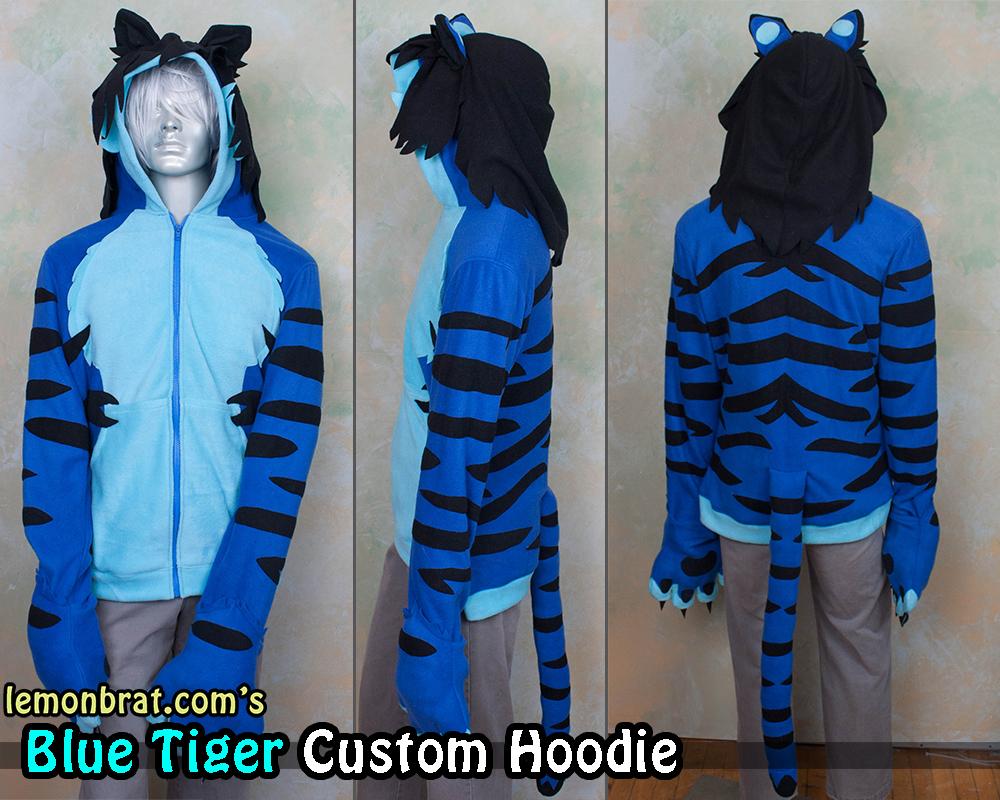 Blue Tiger Custom Hoodie