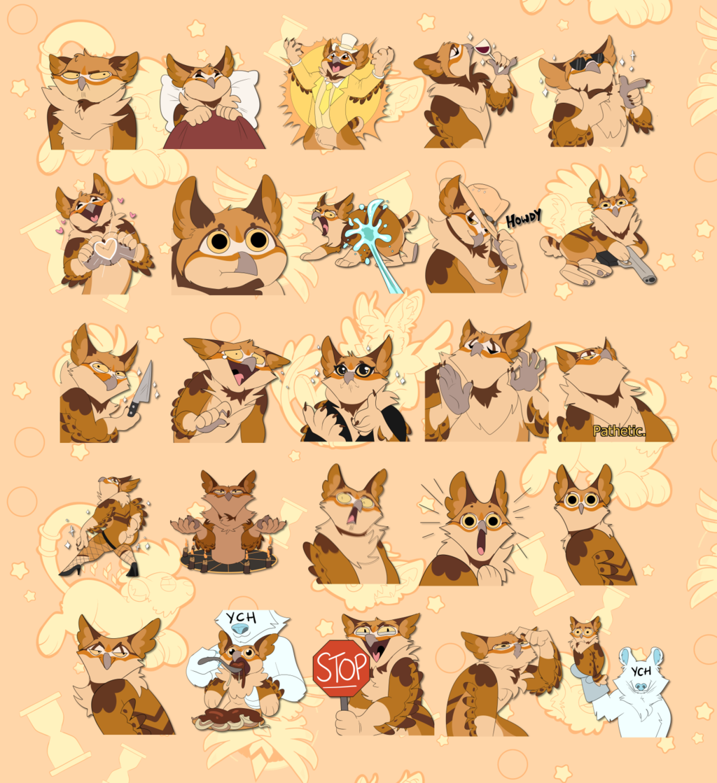 commission - prim sticker pack
