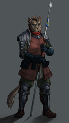 [TES] Spear in hand - colored.