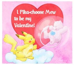 I Pikachoose mew Pokarebear card