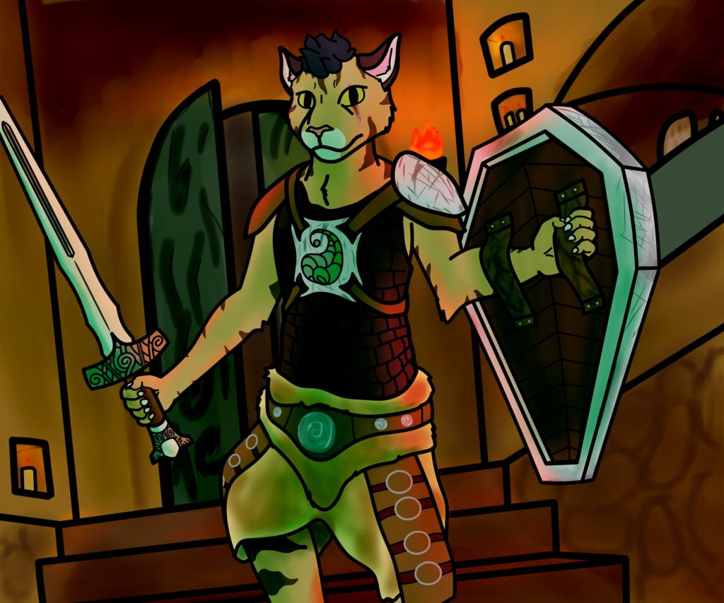 Most recent image: Za'nael exploring a crypt