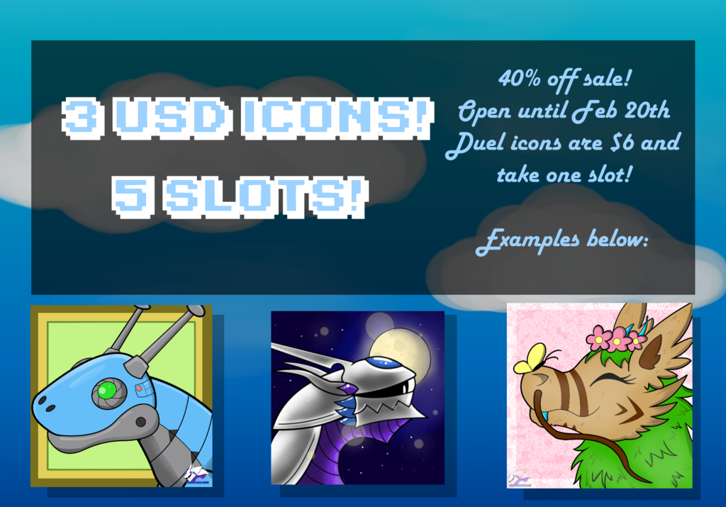 Most recent image: [CLOSED] $3 Icon Sale!