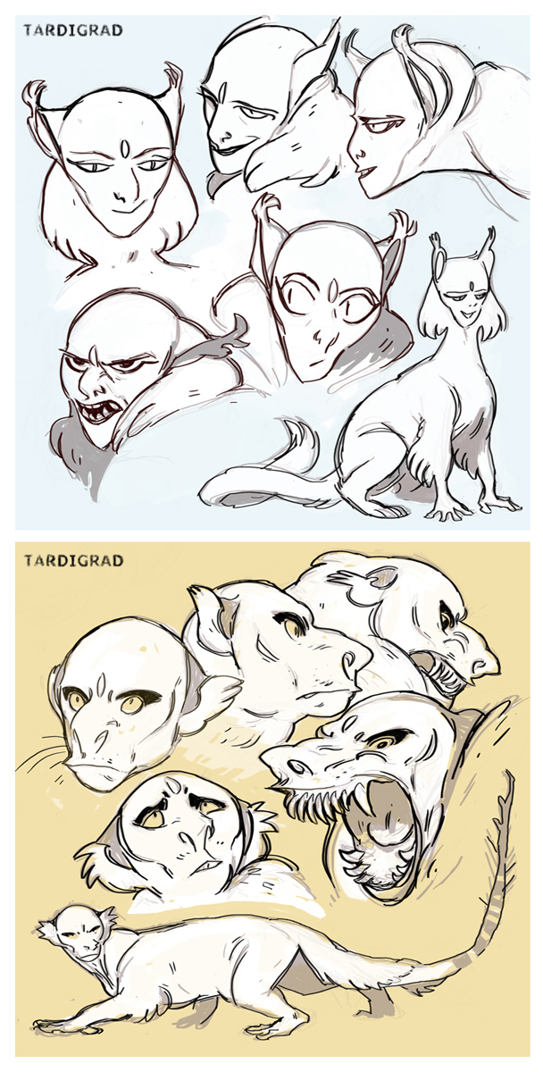 Concept Art: Sphinx & Manticore