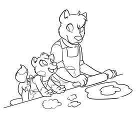 Baking with Pop!