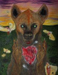 Surrounded By Moths (Hyena with Heart)