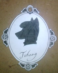 traditional cut out silhouette badge
