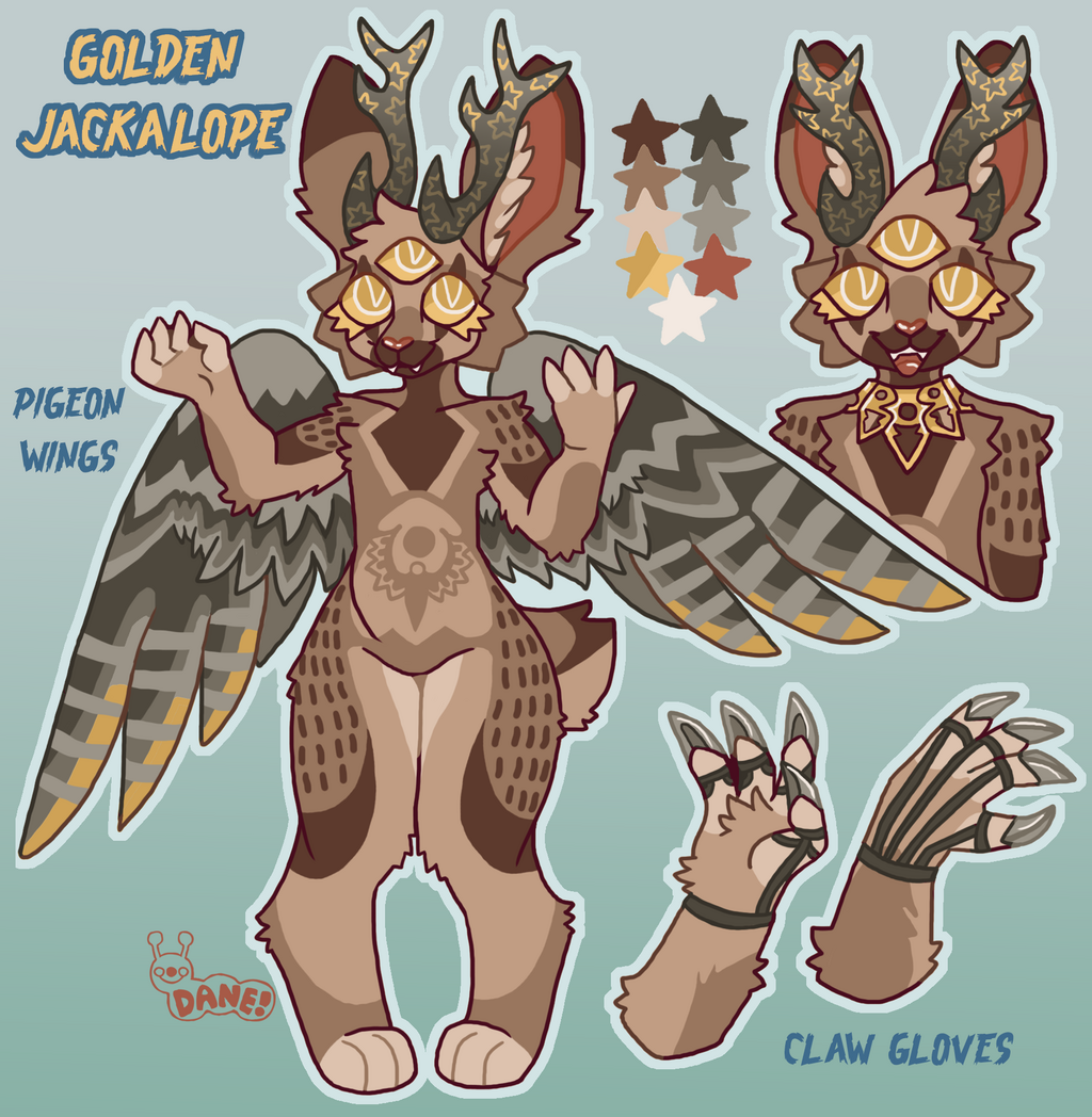 Golden Jackalope Custom Design