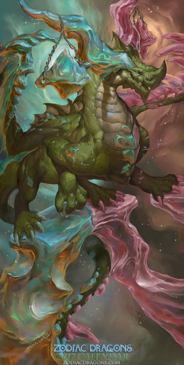 2017 Zodiac Dragons Calendar Libra Dragon Weasyl