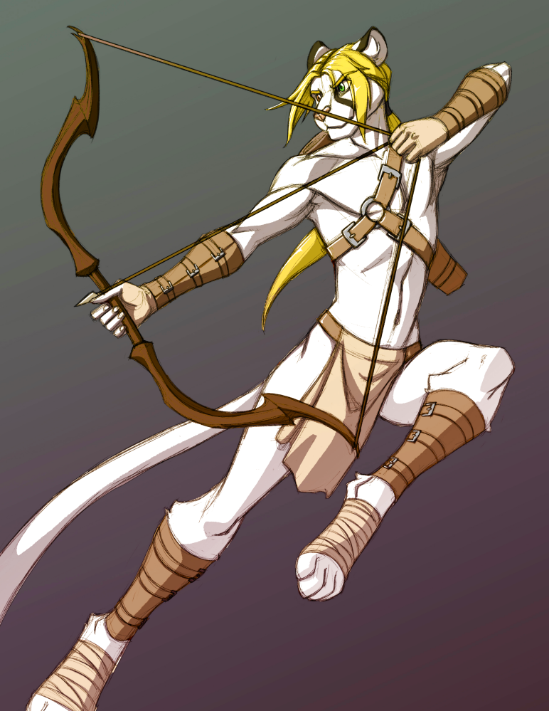 Dehklen the Archer  by Brindle