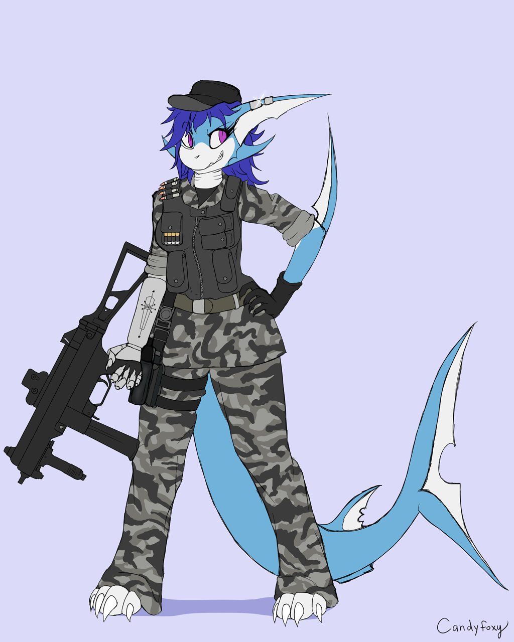 SharkySyndicate Colored Sketch Commission
