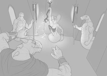 Battle against the Yuan-ti Queen Ith Mar-jar