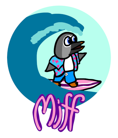 Surfguin badge