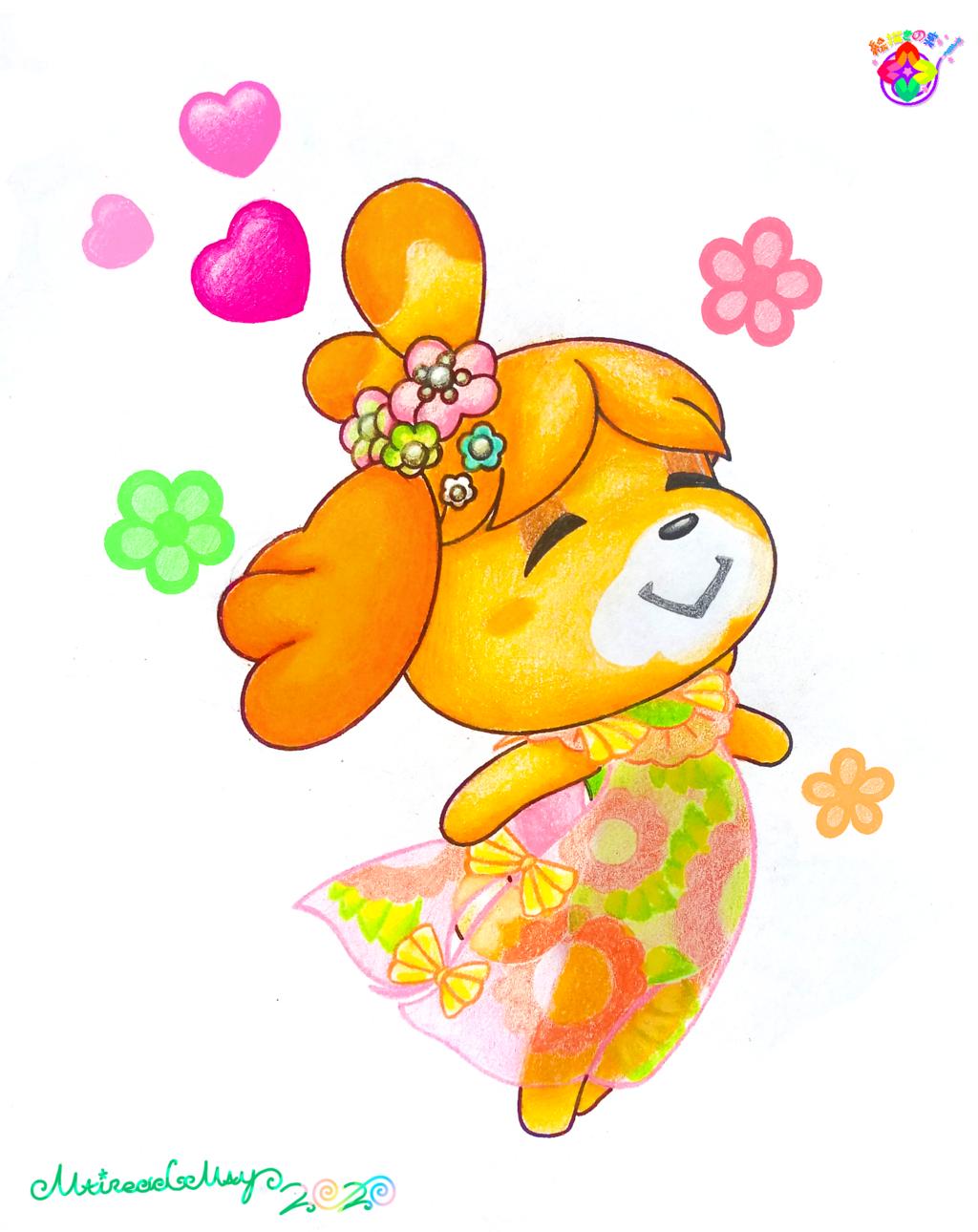 Fan-Art--Isabelle (Animal Crossing: New Horizons)