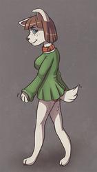 Walking Dog Girl