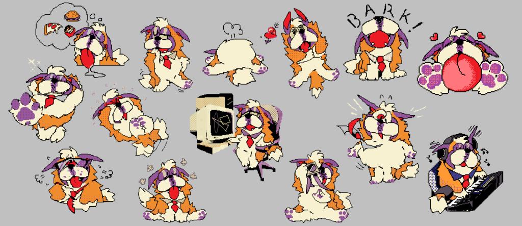 commission: HOSS DOT DOG [telegram sticker set]