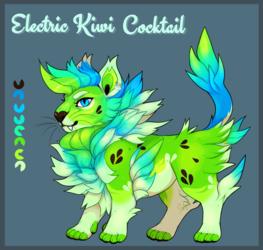 Electric Kiwi Cocktail Cat [CLOSED] PRICE DROP