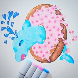 Sweets Animals - Donut Dolphin