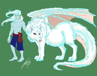 Varghr wolf and elf form