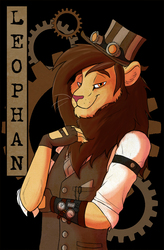 Commission - Leophan - Steampunk Badge