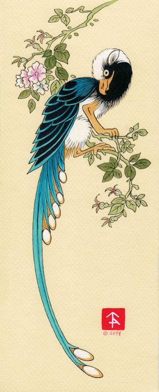Long Tailed Bluebird Gryphon