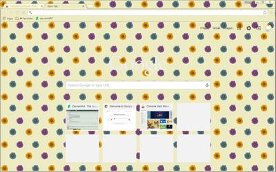 Colored Sunflowers - Google Chrome Theme