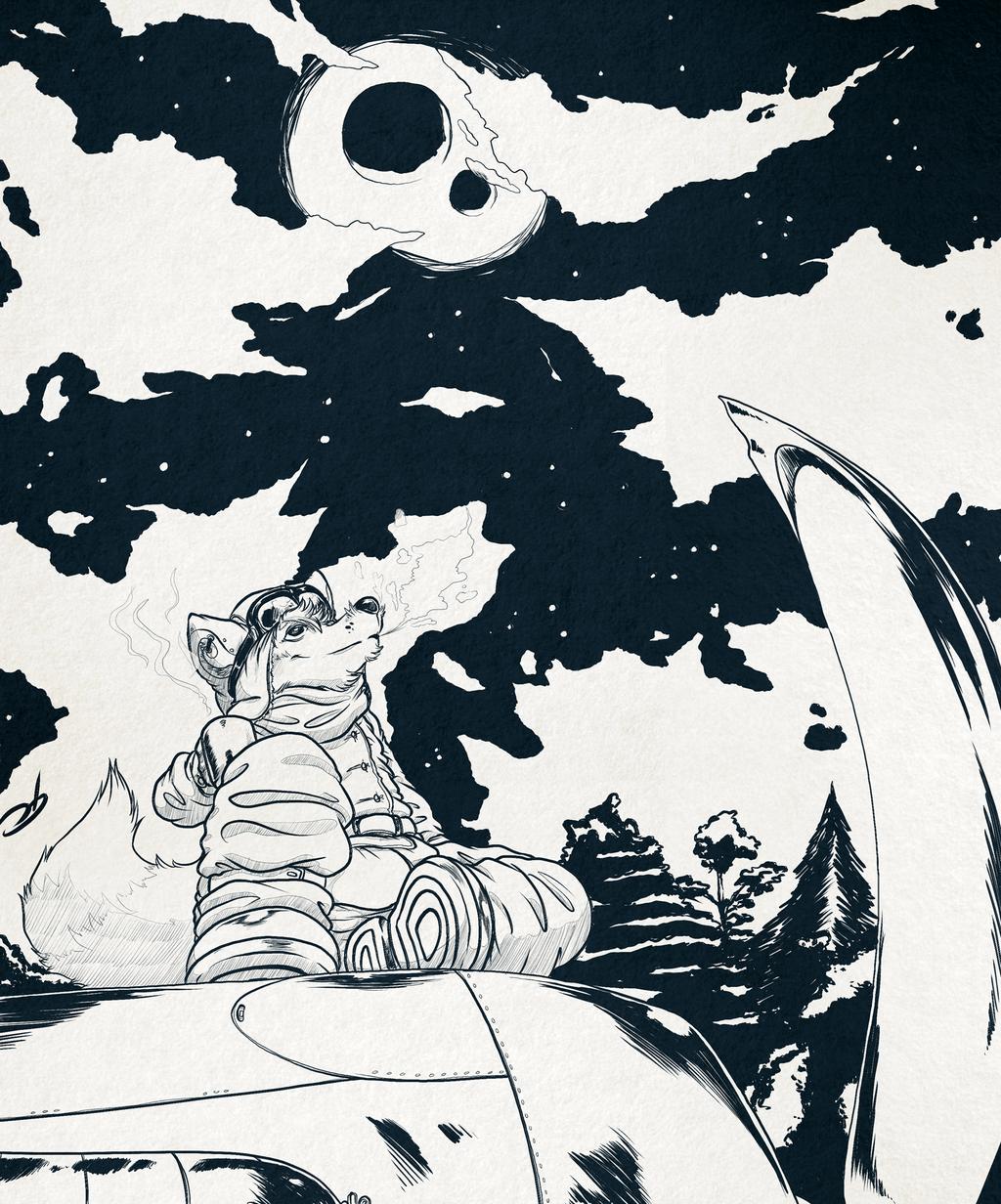 Inktober Day 15: Aviator fox
