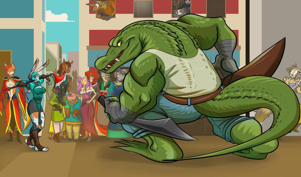Battle Bunny versus Rock the Croc