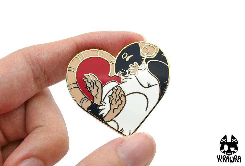 Heart Rat Enamel Pin