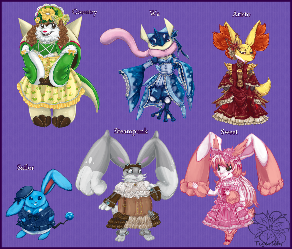 Lolita Pokemon theme set 1