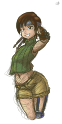 Yuffie Rough Art