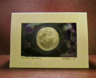 The Snow Moon Greeting Card
