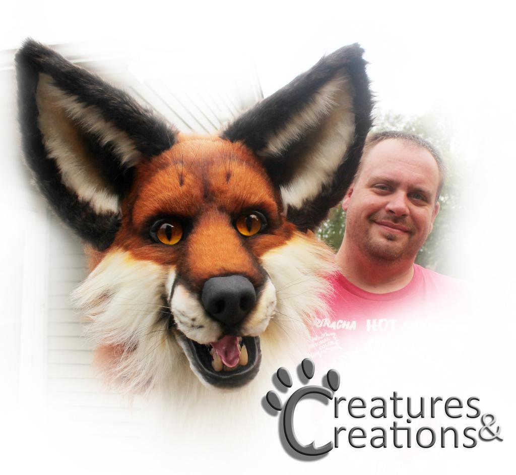 New foam talking fox head