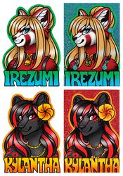 Glitter Badges - Irezumi & Kylantha