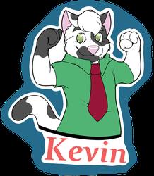 [C] Kevin waist up badge
