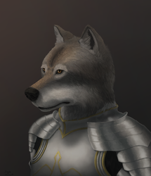 Wolf in plate armor
