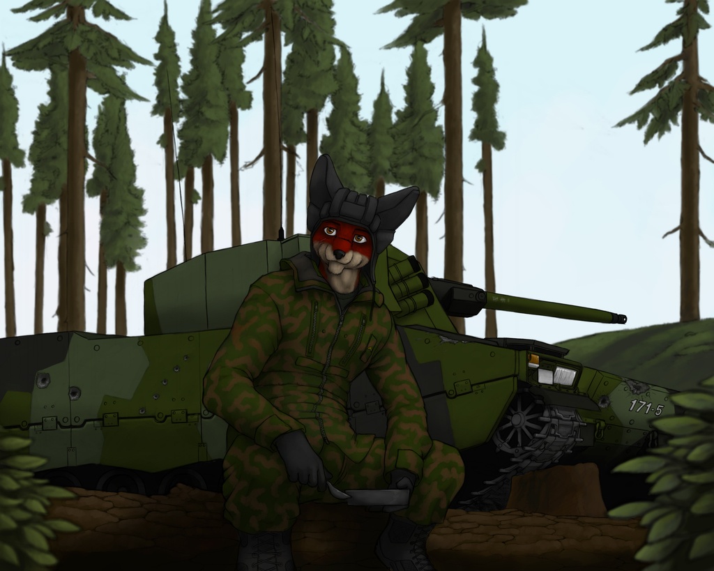 Military artwork #1 - The Fox and the IFV