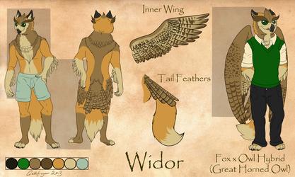 Widor - FoxOwl Hybrid Refsheet